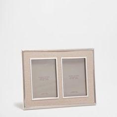 Marco doble metal y lino - Zara Home, Double Frame, Contemporary, Metal, Color, Collection, Moldings, Decorative Frames, Colour