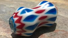Chevron Beads Large Glass Layered Beads46 mm by RedEarthBeads, $26.00