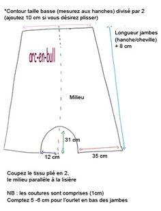 Patron sarouel large vu sur http://www.bluemarguerite.com/Loisirs-creatifs/tuto-190-sarouel-large-adulte.deco#