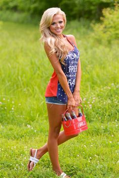 """""""Home Of The Free Because Of The Brave"""" Tank from Closet Candy Boutique #fashion #summer #ootd"""