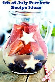 4th Of July Sparkling Water Recipe Fourth Of July And