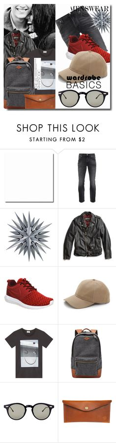 """""""Menswear"""" by angy-beurskens ❤ liked on Polyvore featuring Nudie Jeans Co., Lucky Brand, NIKE, rag & bone, Acne Studios, FOSSIL, Thom Browne, Red Clouds Collective, mens and men"""