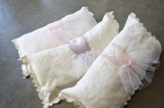 LOVE these Ballerina Pillows by The Stitch Farm on Etsy