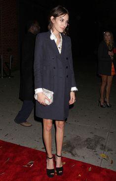 Alexa Chung Wool Coat - Alexa Chung Looks - StyleBistro