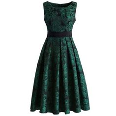 Chicwish Grace Reverie Floral Dress in Evergreen