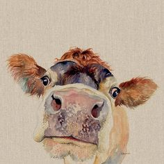 Buy Jane Bannon (Pammy) Canvas Prints on The Art Group. Watercolor Paintings Of Animals, Animal Paintings, Watercolor Art, Animal Watercolour, Paintings Of Cows, Cow Paintings On Canvas, Horse Canvas Painting, Animal Art Prints, Cow Canvas