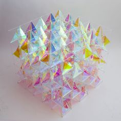 An Iridescent Kite Made From 3M™ Dichroic Glass Finishes