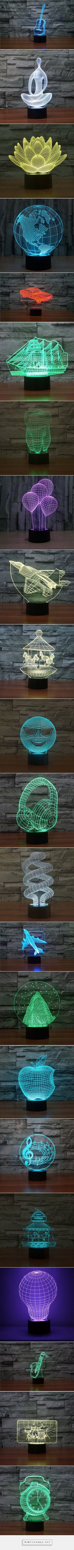 Objects 3D Optical LED Illusion Lamps - Lampeez - created via https://pinthemall.net