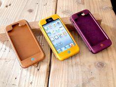 レザーiPhone5 ケース Kav'a(カヴァ) - ハンドメイドレザー小物 Hoppendakko WEB SHOP