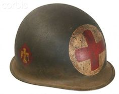 World War II, United States, M1 Helmet with Medic Insignia
