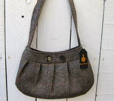 1923 Lawrence Harris Tweed Bag by StitchyWitchy Designs