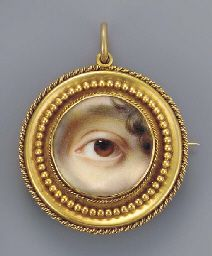 The left eye of the artist's sister, Mary Cox Dillman Engleheart later Mrs John Pyne, brown iris with curling lock of brown hair Eye Jewelry, Enamel Jewelry, Antique Jewelry, Vintage Jewelry, Lovers Eyes, Miniature Portraits, Momento Mori, Mourning Jewelry, Historical Artifacts