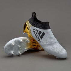 sports shoes cd5f2 6f69c adidas X 16+ Purechaos SG - White Core Black Gold Metallic Sg Football