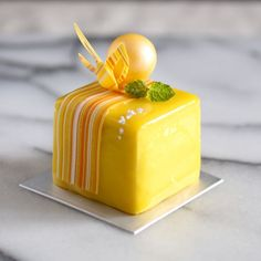 This is not an ordinary Mango cake but super tasty one!! Mango Sablée Base layered with Mango Cremeux, Pistachio Sponge Cake and Fruit Compotes!! Yum!!
