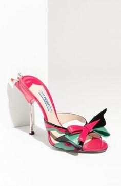 5142a6acff69fd Prada Bow Tails Light Slide Sandals