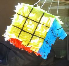 Inspiring Ideas with artist Jeanne Winters: Rubik's Cube Birthday Party - Part 2