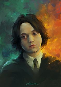 ArtStation - Severus Snape child, Marina MichkinaYou can find Severus snape and more on our website. Fanart Harry Potter, Harry Potter Severus Snape, Harry Potter Wallpaper, Harry Potter Fandom, Hermione Granger, Severus Snape Joven, Young Severus Snape, Severus Rogue, Rpg