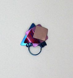 Magnetic Eyeglass Holder in Pink Red Purple by LauraWilsonGallery, $75.00 SOLD
