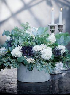 winter white & dove grey... Julens vackraste snittblommor - Sköna hem