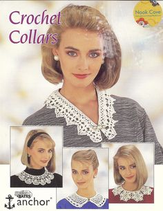 Vintage Crochet Collars by Susan Bates Leaflet 17061 by NookCove, $4.25  Vintage Crochet Collars by Susan Bates Leaflet 17061 is 4 pages featuring 4 styles of collars to grace your clothing:  V Collar, Round Collar, Shaped Collar, Motif Collar.