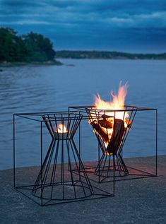 Fire pits.