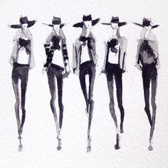 Fashion Sketchbook, Fashion Sketches, Fashion Illustrations, Fashion Illustration Tutorial, Croquis Fashion, Fashion Art, Fashion Design, Fashion Blogs, Black And White Colour