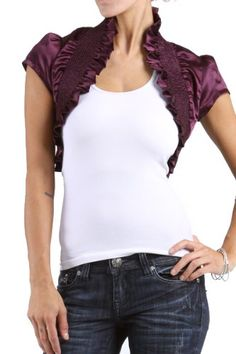 #Smocked Lace Women's Hemmed Bolero Wrap Ruffled Stretch #Shrug       http://amzn.to/H3kWPd