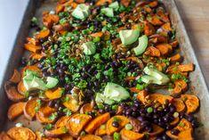 sweet potato salad with pepita dressing – smitten kitchen