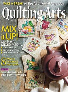 Check out my article on Marbling on Wool in the June/July 2017 issue of Quilting Arts magazine! Fabric Patch, Patch Quilt, Thread Painting, Fabric Painting, Digital Painting Tutorials, Make Pictures, Meet The Artist, Magazine Art, Digital Magazine