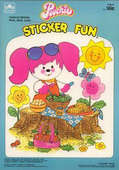 Poochie sticker coloring book RARE UNUSED