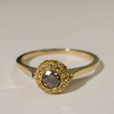 $710 Engagement Ring 14K Gold and Diamond engagement by doronmerav