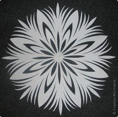 Мастер-класс Новый год Вырезание Снежинки Бумага фото 1