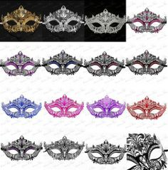 Luxury Collection Laser Cut Venetian Masquerade Mask - Made of Light Metal