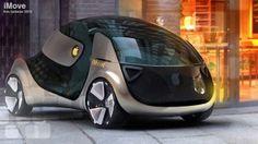 Apple iCar – A Dream Left Incomplete By Steve Jobs - futuristic look E Mobility, Future Transportation, Super Secret, Futuristic Cars, Cute Cars, Steve Jobs, Future Car, Electric Cars, Electric Vehicle