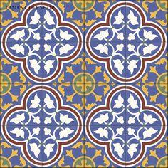 Cement Tile Shop - Handmade Cement Tile | Roseton Azul Pattern