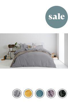 7d487dd9e27 MADE 100% Linen Bed Set -18% off King -18% off Steel