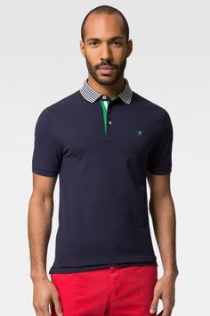 Hackett Stripe Placket Logo Polo Shirt - Polo Shirts - Shop By Product - Men | Hackett