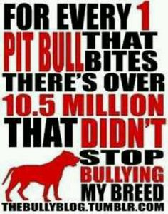 Love my pit bulls don't bully them because of that actions of a few