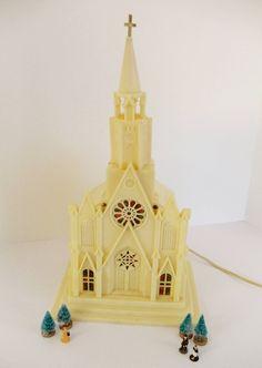 Vintage Christmas Church  Lighted  by UrbanRenewalDesigns on Etsy, $24.50