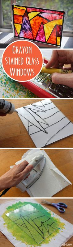 These beautiful crayon stained glass windows are the perfect fall craft (and the best use for those run-down, left over crayons)! Get the full tutorial here: http://www.ehow.com/how_2362350_make-crayon-stained-glass-windows.html?utm_source=pinterest.com&utm_medium=referral&utm_content=freestyle&utm_campaign=fanpage