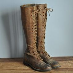 1930s leather lace up boots Gahhhh these are so me!