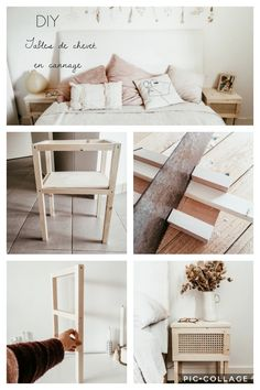 Diy my wooden bedside tables and canning Diy Furniture Table, Diy Furniture Projects, Diy Wood Projects, Furniture Makeover, Woodworking Projects, Wooden Bedside Table, Bedside Tables, Diy Home Decor, Room Decor