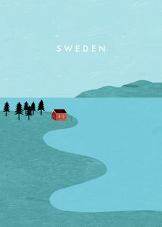 Travel Minimalistic poster prints by Katinka Reinke - Sweden You are in the right place about minimalist furniture Here we offer you the most beautiful p - Travel Illustration, Graphic Design Illustration, Poster S, Poster Prints, Illustrations Vintage, Illustrator, Guache, Vintage Travel Posters, Vintage Ski