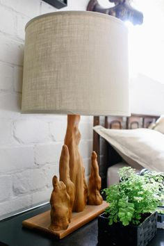Love the cypress knee lamp