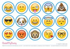 Free Emoji Party Printables for an Amazing Party! Emoji Cake Toppers, Minecraft Cake Toppers, Cupcake Toppers Free, Cupcake Emoji, Free Emoji Printables, Party Printables, Free Printable, 10th Birthday Parties, 8th Birthday