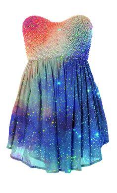 Cosmic dress.
