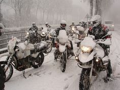 BMW motorycles in the snow,adventure