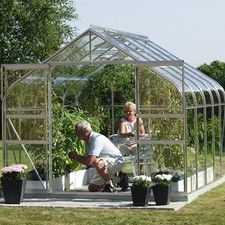Saturn 2.4m x 3.8m Greenhouse with Horticultural Glass