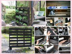 Faça um jardim vertical com paletes de madeira passo a passo