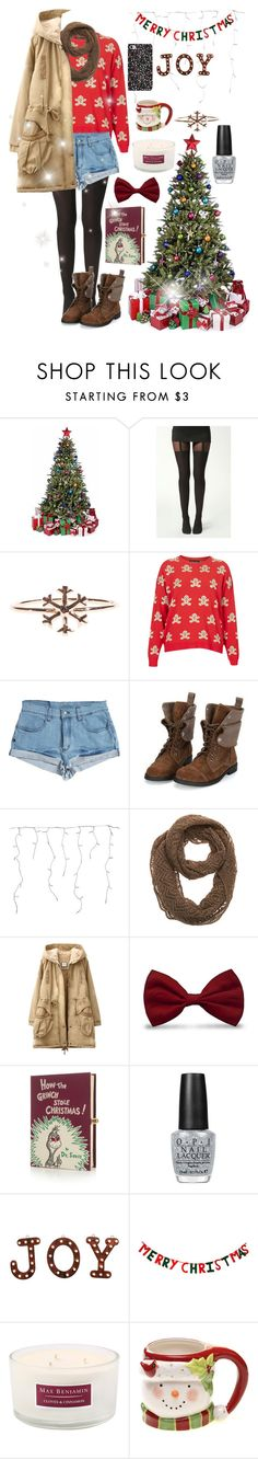 It's the most beautiful time of the year by tamara-xox on Polyvore featuring Topshop, Boohoo, Somedays Lovin, Olympia Le-Tan, Nine West, Retrò, OPI, Max Benjamin and Certified International